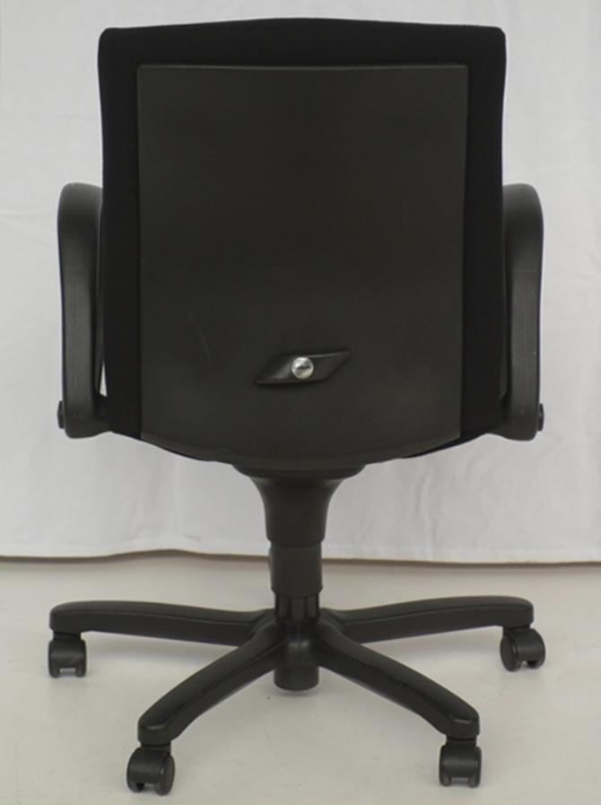 comforto b rodrehstuhl drehstuhl stoffbezug schwarz ebay. Black Bedroom Furniture Sets. Home Design Ideas