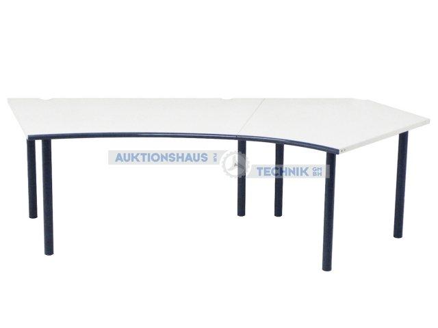 stadler schreibtisch 250 cm winkelkombination 2teilig wei grau ebay. Black Bedroom Furniture Sets. Home Design Ideas